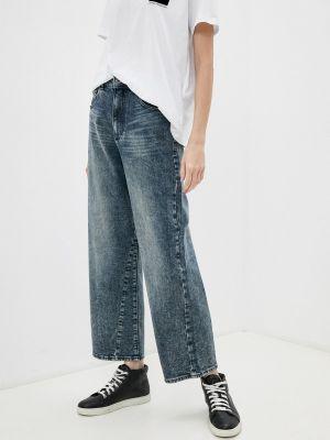 Широкие джинсы - голубые Emporio Armani