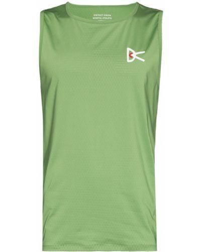 Zielona koszulka z printem District Vision