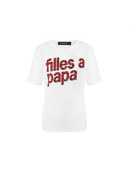 Белая шелковая футбольная футболка с круглым вырезом Filles A Papa