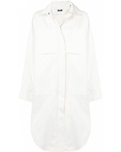 Рубашка с длинным рукавом белая оверсайз Jil Sander Navy