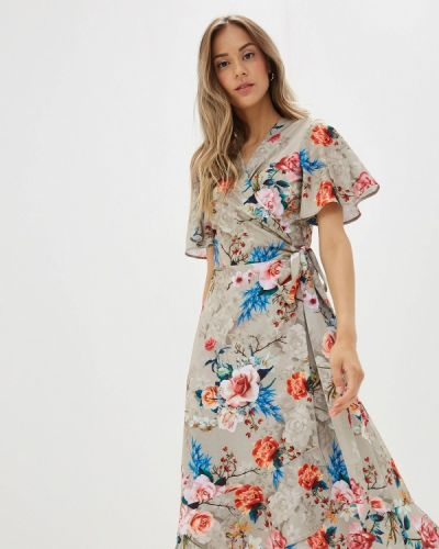 Платье с запахом бежевое Doroteya