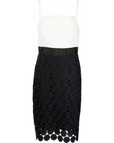 Biała sukienka w grochy Milly