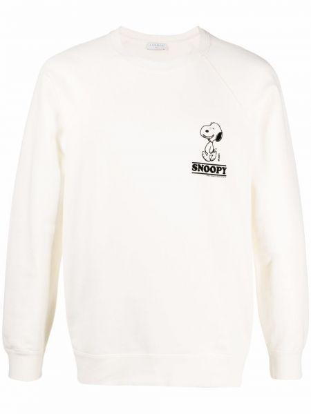 Biała bluza długa z długimi rękawami bawełniana Sandro Paris