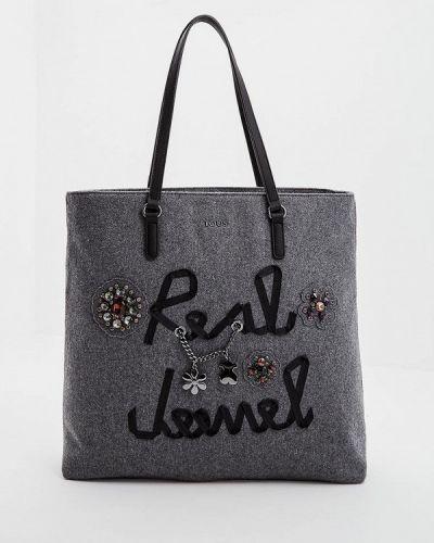Серая сумка шоппер Tous