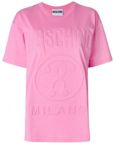 Футболка с логотипом хлопковая Moschino