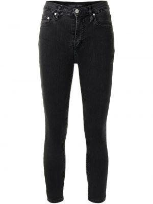 Облегающие черные укороченные джинсы на молнии Nobody Denim