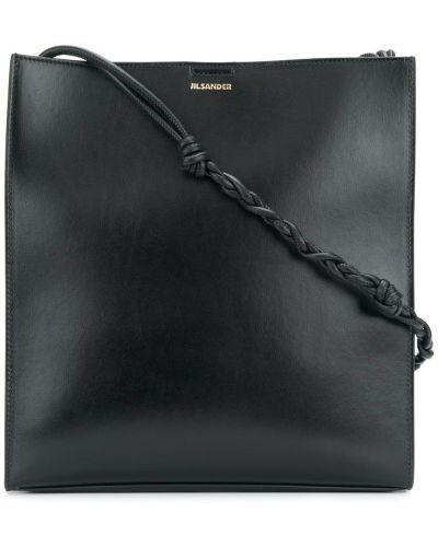 Кожаный сумка на плечо с логотипом Jil Sander