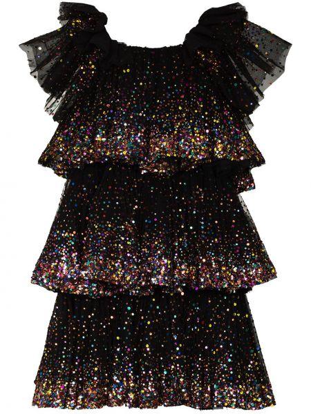 Вечернее платье миди - черное Ashish