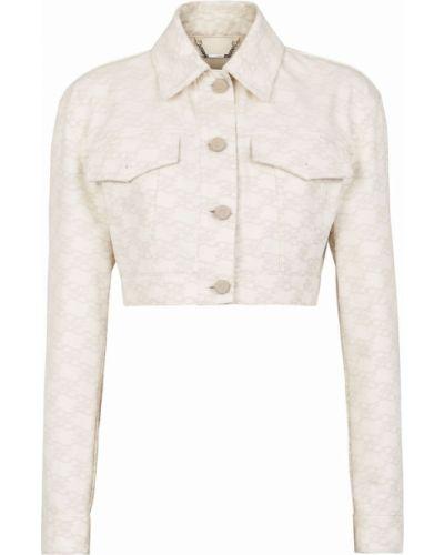 Белая джинсовая куртка Fendi