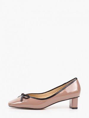 Лаковые коричневые кожаные туфли Tuffoni
