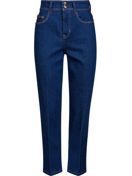 Хлопковые синие джинсы на молнии Versace Jeans Couture