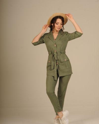 Льняной костюм - зеленый Jaded London