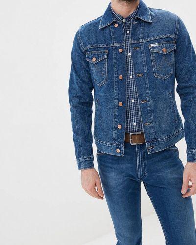 Джинсовая куртка синяя Wrangler