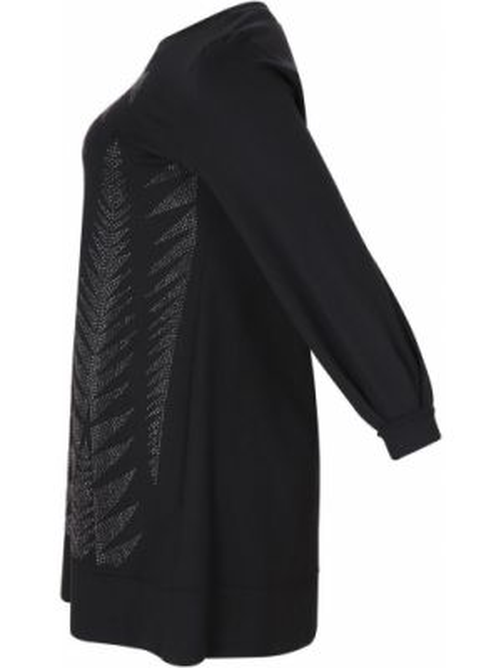 Платье миди оверсайз с рисунком с длинными рукавами с вырезом Mat Fashion