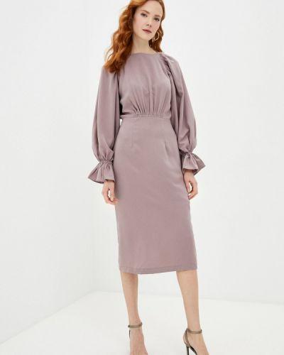 Фиолетовое платье-футляр Cavo