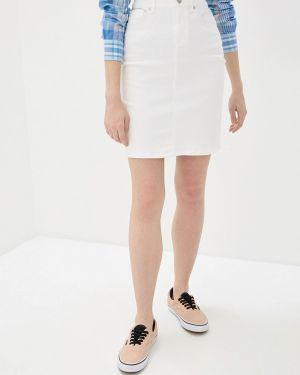 Белая джинсовая юбка Gant