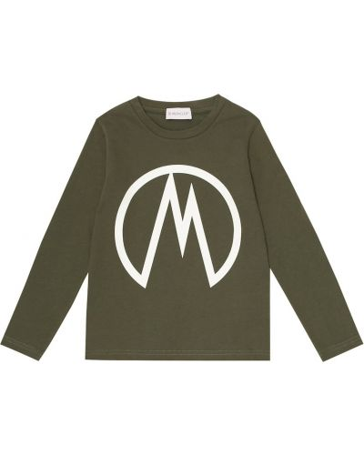 Bawełna bawełna zielony koszula Moncler Enfant