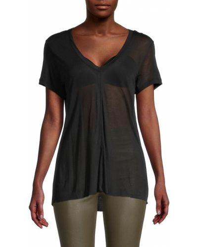 T-shirt krótki rękaw - czarna Helmut Lang