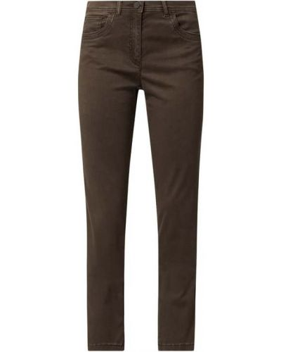 Brązowe spodnie bawełniane Zerres