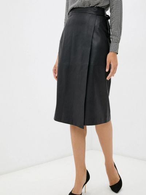 Кожаная юбка - черная Lusio