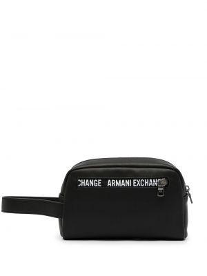 Kopertówka skórzana - biała Armani Exchange