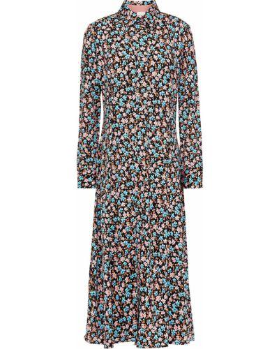 Платье миди с принтом - черное Paul Smith