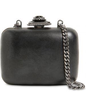 Кожаная сумка на цепочке со стразами Alexander Mcqueen