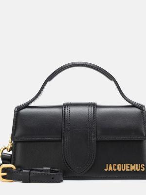 Черная кожаная сумка на плечо Jacquemus