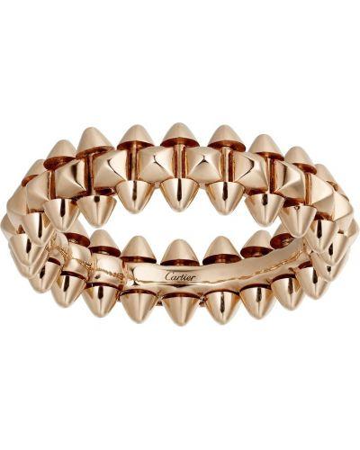 Кольцо золотое круглое Cartier