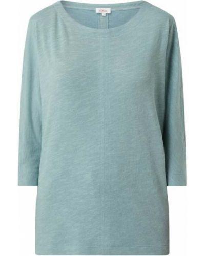 Bluzka z wiskozy - turkusowa S.oliver Red Label