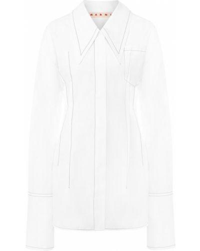 Белая блузка хлопковая Marni