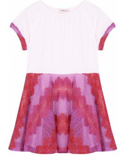 Платье мини трикотажное розовое Missoni