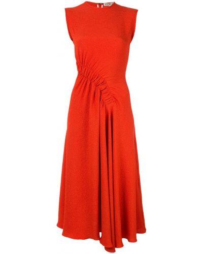 Платье миди со складками на молнии Edeline Lee