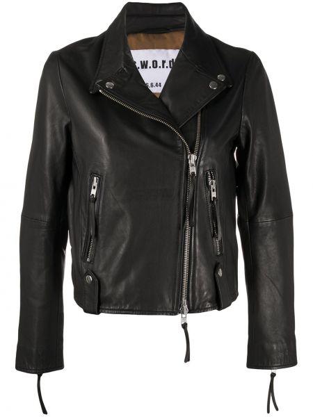 Черная куртка с манжетами с подкладкой на молнии S.w.o.r.d 6.6.44
