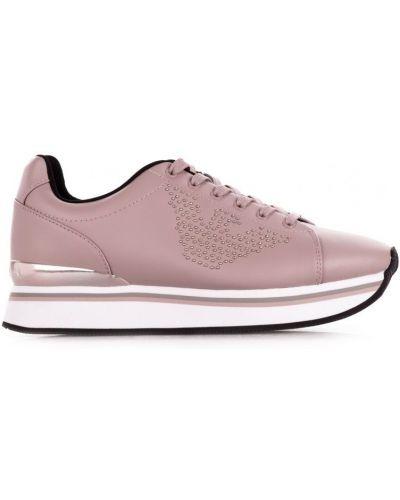 Кожаные кроссовки повседневные Emporio Armani