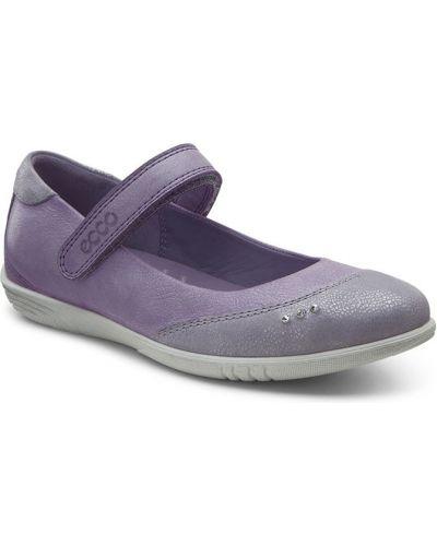 Школьные туфли фиолетовый текстильные Ecco