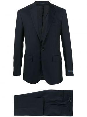 Niebieski garnitur wełniany z długimi rękawami Polo Ralph Lauren