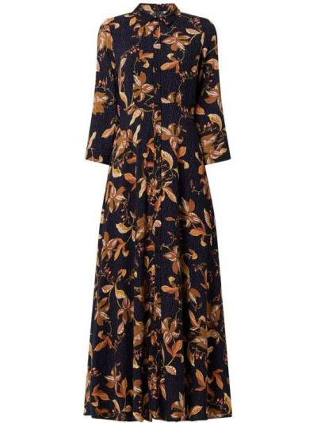 Czarna sukienka rozkloszowana z wiskozy Y.a.s