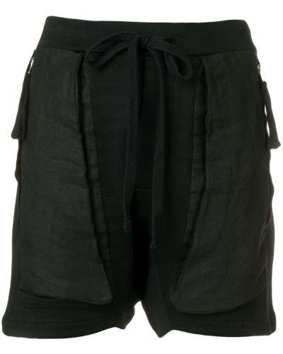 Черные шорты с карманами Thom Krom