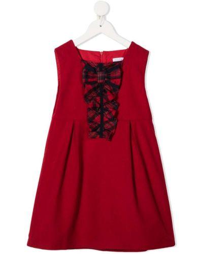 Красное платье круглое с бантом из вискозы Patachou