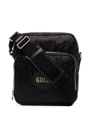 Нейлоновая сумка через плечо - черная Gucci