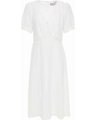 Платье из крепа - белое Paul & Joe