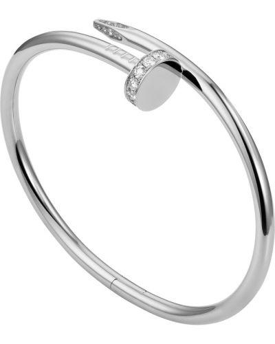 Белый золотой браслет с бриллиантом Cartier