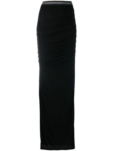 С завышенной талией черная юбка макси с поясом Vera Wang