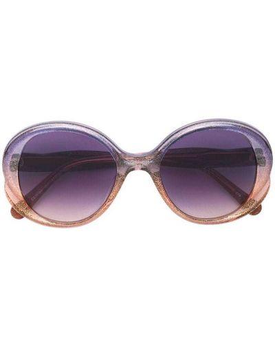 Фиолетовые солнцезащитные очки с глиттером Chloé Kids