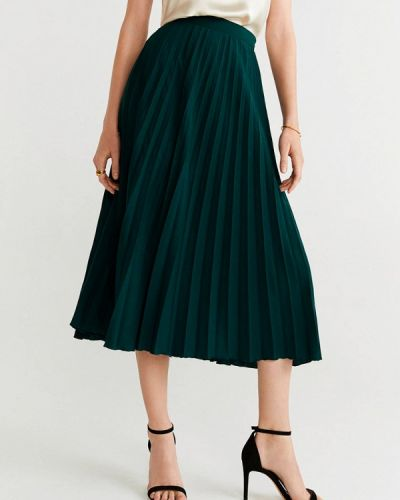 Плиссированная юбка зеленый турецкий Mango