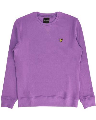 Fioletowa bluza dresowa Lyle & Scott