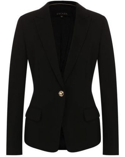 Черный пиджак с подкладкой из вискозы Escada