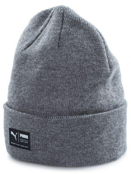 Акриловая шапка - серая Puma