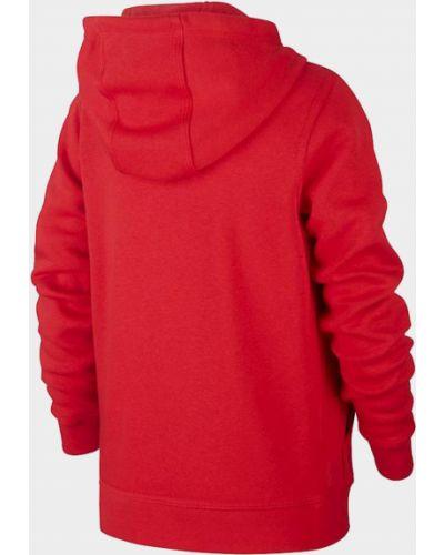 Мягкая красная кофта на молнии Nike